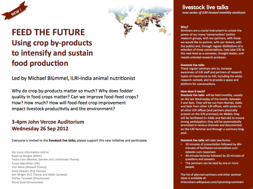 Livestock live talks – new series of ILRI-hosted monthly